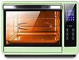 ZJDM Mini Horno Inteligente Tipo computadora Multifuncional Ajuste Inteligente de Temperatura y Tiempo / 360;Horquilla de Parrilla de rotación/Circulación de Aire Caliente/Lámpara de Estufa