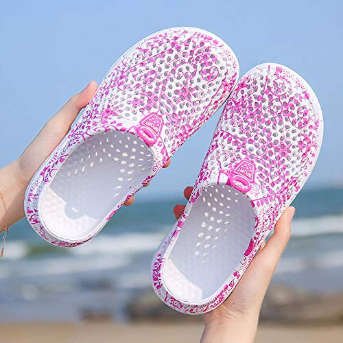 WTFYSYN Piscina de Gimnasio Zapatillas,Zapatillas Antideslizantes Transpirables, Zapatos con Agujeros de Playa para jardín-O_36,Playa para Hombre Zapatillas de Estar