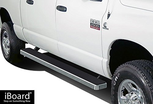 APS IBDY3997 Silver 6 Running Board Side Step iBoard Third Generation, for Selected Dodge Ram 1500//2500//3500 Quad Cab, Aluminum