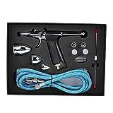 A sixx Kits de Pintura con Pincel de Aire, aerógrafo Duradero, Kit de Maquillaje con aerógrafo de Metal para Colorear Modelos, decoración de Pasteles(Airbrush Set)