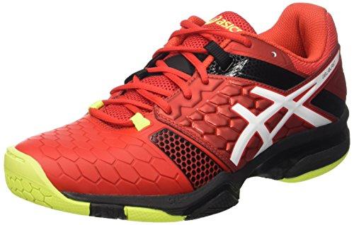 ASICS Gel-Blast 7, Chaussures de Handball Homme, Multicolore Vermilion White Safety Yellow, 40.5 EU