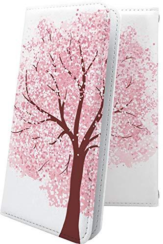 スマートフォンケース・jetfon P6 / jetfon マルチタイプ マルチ対応ケース・互換 ケース 手帳型 花柄 花 フラワー サクラ 桜 小桜 夜桜 ジェットフォン 和柄 和風 日本 japan 和 jet fon jetfone jetfonp06 おしゃれ
