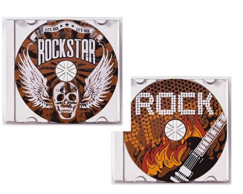 Weibler Confiserie Geschenkpackung CD Rock 2-fach sortiert 2 x 45g Edelvollmilch Schokolade