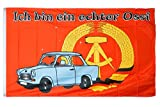 Flaggenfritze Flagge/Fahne Ich Bin EIN echter Ossi - 90 x 150 cm