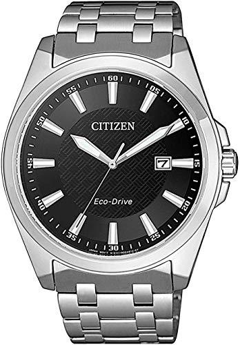 Citizen Reloj Analógico para Hombre de Cuarzo con Correa en Acero Inoxidable BM7108-81E