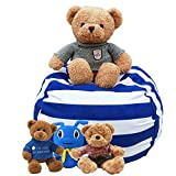 i-baby Bean Bag Chair Fabric Strength Enhanced Stuffed Animals Storage, for Kids Toy...