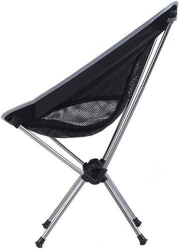 Chaise Pliante Ultra-Portable pour l'extérieur, Tabouret à Croquis de pêche, Pieds de Chaise en Aluminium, Or et Argent LJJOZ (Couleur   argent)
