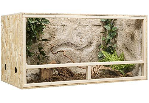 Generisch Terrarium, Terrariumbausatz, OSB Terrarium, Holzterrarium 120 x 60 x 60 cm Seitenbelüftung