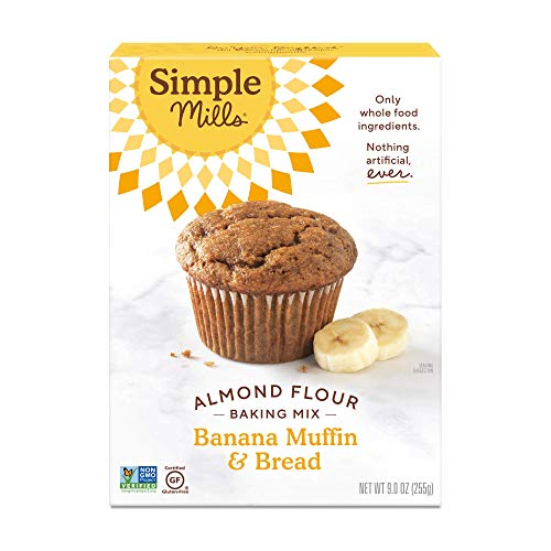 Simple Mills Almond Flour Baking Mix, Gluten Free Banana Bread Mix, Muffin Pan Ready, Made with whole foods, (Packaging May Vary)