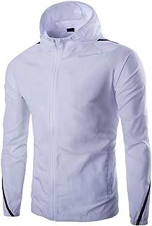 Men's Jacket Waterproof Breathable Outdoor Shell Jacket Waterproof Shell Jacket Solid Colour Raincoat Men Windproof Long S...