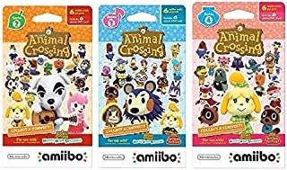 Nintendo Animal Crossing amiibo Cards Series 2, 3, 4 for Nintendo Wii U and 3DS, 1-Pack (6 Cards/Pack) (Bundle) Includes 18 Cards Total