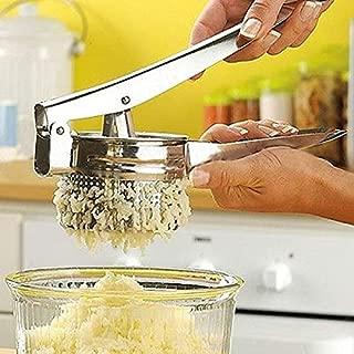 Kitchen Accessories - Stainless Steel Potato Masher Ricer Large Sturdy Puree Vegetable Fruit Juicer Press Maker - Clearance Eggs Theme Aqua Seasonal Measuring Orange Dish Glass Cabinet