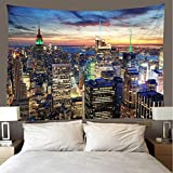 JMHomeDecor Tapiz Impresión 3D Hermosa Ciudad De Nueva York Edificio Pintoresco Funda De Cama Portátil De Peso Ligero Tapiz Multifuncional Tapiz De Pared 150 (H) X200 (W) Cm