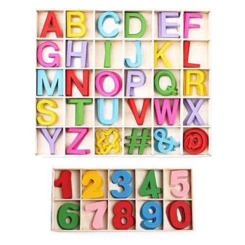 Wooden Letters And Numbers, 200PCS Lettere in Legno e Numeri in Legno, Lettere Maiuscole...
