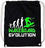 EZYshirt® Wakeboard Evolution Baumwoll Stoffbeutel