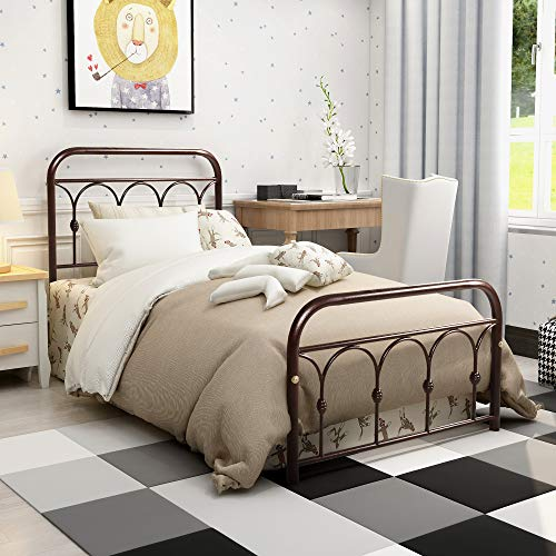 ALMENT Reinforced Metal Bed Frame Platform Mattress...