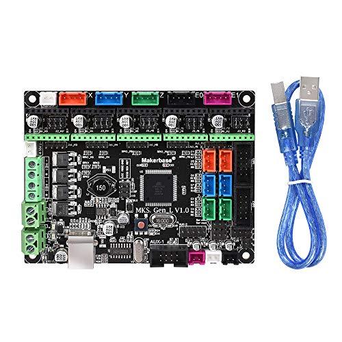 WitBot MKS Gen L V1.0 - Placa controladora integrada compatible con Ramps1.4/Mega2560 R3 soporte a4988/DRV8825/TMC2100/LV8729
