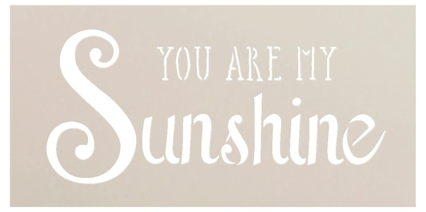 You Are My Sunshine Stencil by StudioR12 | Trendy Script & Serif Word Art - Small 8 x 4-inch Reusable Mylar Template | Painting, Chalk, Mixed Media | Use for Journaling, DIY Home Decor - STCL1205_1