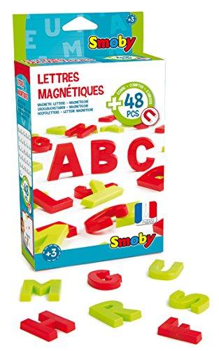 Smoby - 48 Lettres Magnétiques - Pour Tableau ou Bureau - 2 Couleurs - Rouge et Vert - 430100