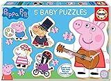 Educa Infantil Baby Peppa Pig 2, 5 Puzzles progresivos de 3 a 5 Piezas, a Partir de 24 Meses (18589)