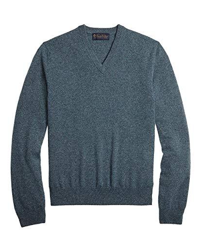 Brooks Brothers Men's 99190 2ply Scottish Cashmere Sweater, Dark Green (XL)