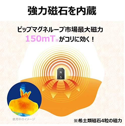 『ピップ マグネループEX 高磁力 ローズピンク 45cm 磁気治療器』の3枚目の画像