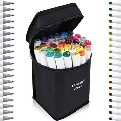 Tanmit Dual Tips Art Markers, Permanent Marker Highlighter...