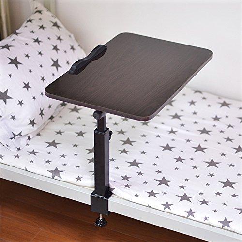 Zaixi Ordinateur Portable Table Ordinateur Bureau Lit Utilisation Pliable Réglable Rotatif Bureau Dortoir Chaise Bureau Table d'Étude Forte capacité portante (Couleur : Noir)