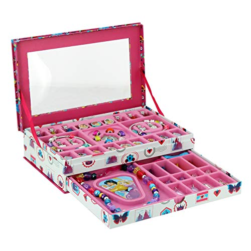 Taldec Princesses-Coffret Bijoux Charms Disney Príncesas – Caja de Joyas con Abalorios, Multicolor (T18106)