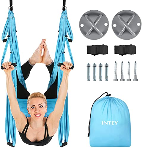 INTEY Aerial Yoga Flying Yoga Swing Yoga Hammock Trapeze Sling Inversion Tool