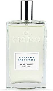 Cremo Blue Cedar & Cypress Cologne Spray, A Woodsy Scent with Notes of Lemon Peel, Cypress and Cedar, 3.4 Oz