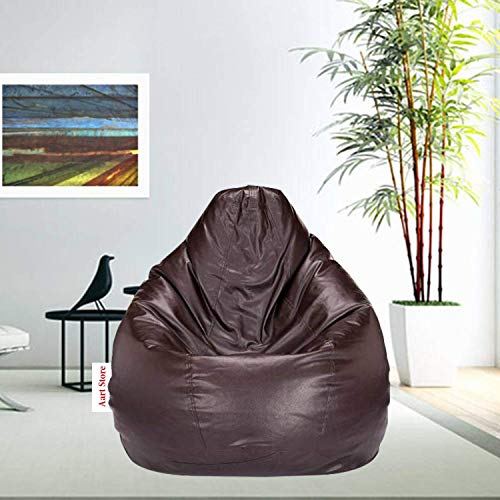 Aart Store XXL Bean Bag with Beans Filled Brown Color