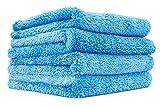 TIANLE - Toallas Profesionales de Microfibra de Felpa de Mezcla Coreana para Coches, 500 g / m2, 16 x 16 Pulgadas, Azul