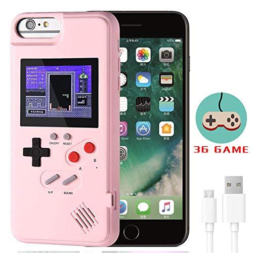 Dikkar Gameboy Case für iPhone, Retro-Schutzhülle mit Eigener Stromversorgung, 36 Kleine Spiele, Farbdisplay, Videospieletui für iPhone X/Xs/MAX/Xr / 6/7/8 & Plus / 11/11 Pro/11 Pro MAX