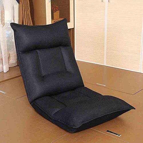 FEI Confortable Dormeur de plancher réglable noir de lit de sofa de plancher réglable Solide et durable
