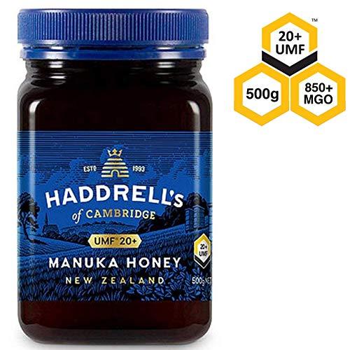 Haddrells of Cambridge Miel de Manuka | UMF20+/MGO 850+ | Miel de manuka premium de Nueva Zelanda | 500g