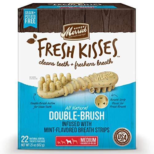 Merrick Fresh Kisses Medium Oral Care Dental Dog Treats