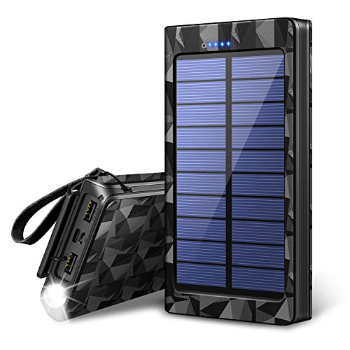 TSUNEO(ツネオ)『24000mAh モバイルバッテリー ソーラーチャージャー』