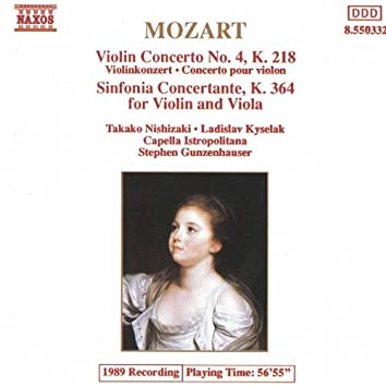 MOZART: Violin Concerto No. 4 / Sinfonia Concertante