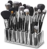 byAlegory Acrylic Makeup Brush Organiser | 24 Space Storage w/Deep Slots for Cosmetic Beauty Brushes Refillable Container