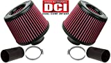 BMS Dual Cone Performance Intake for N54 BMW 135 335 535 Z4 (RED FILTERS)
