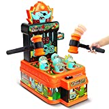 LUKAT Arcade Game Toys for 3 Year Old, Whack Game Mole, Mini Electronic Interactive Hammering & Pounding Toys, Gift Idea for Toddler Kids Boys Girls Ages 3 4 5 6 7 8+, Cartoon Zombie Style Fun Toys