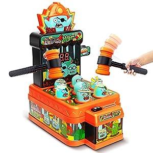 LUKAT Baby Whack Spiel für 3 4 5+ Jahre Kinder Mini-Münzen-Arcade-Spielautomat mit Zwei Hämmern Musik Spielzeug Interaktives pädagogisches Entwicklungsspiel für Kleinkinder, Mädchen und Jungen