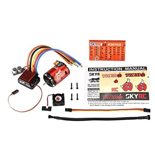 XuBa Sky/RC 4000KV 8.5T 2P Sensor Brushless Motor CS60 60A Sensor ESC LED Programm Karte Combo Set für 1/10 1/12 RC Buggy Auto