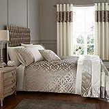 Catherine Lansfield - Set copripiumino per letto king size, in velluto, colore: naturale