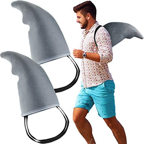 2 Stück Haifischflossenzubehör Graues Haifischflossenkostüm Leicht zu tragende Haie Spielen Kostümrequisiten für Erwachsene und Kinder