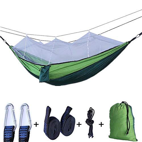 ATRE Dubbel Met Muggennet Hangmat, Nylon Outdoor Camping Swing Outdoor Draagbare Insect Net Binnen en Buiten Hangmat, Gemakkelijk Componenten