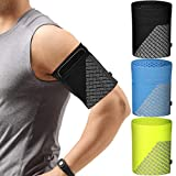 3 Pieces Cell Phone Armband for Running Phone Holder Arm Bands for Cell Phone Sports Armband Strap Holder Pouch Case for Exercise Workout for All Phones (Black, Blue, Fluorescent Green,Size L)
