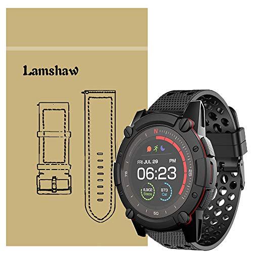 LvBu Armband Kompatibel Für PowerWatch 2, Sport Silikon Classic Ersatz Uhrenarmband Für Matrix PowerWatch 2 Smartwatch (schwarz)