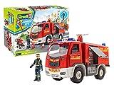 Revell- Camion dei Pompieri con Figura Viti Auto Giocattolo per sé e per Il Gioco, Colore...